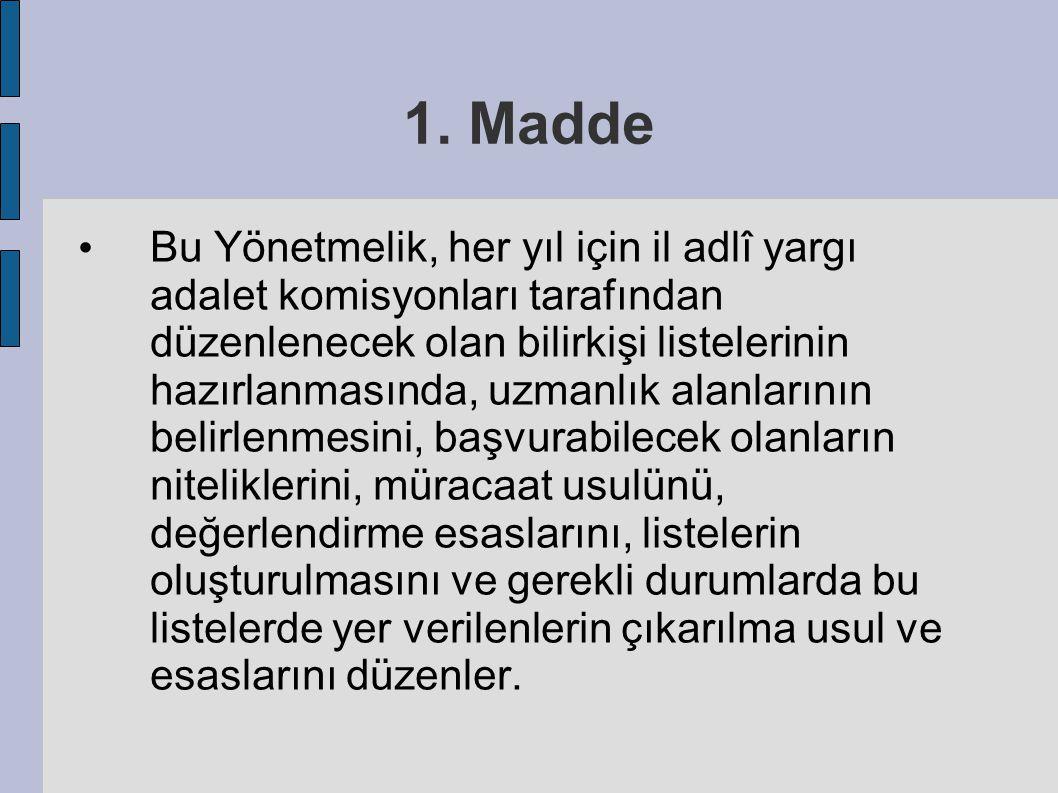 1. Madde