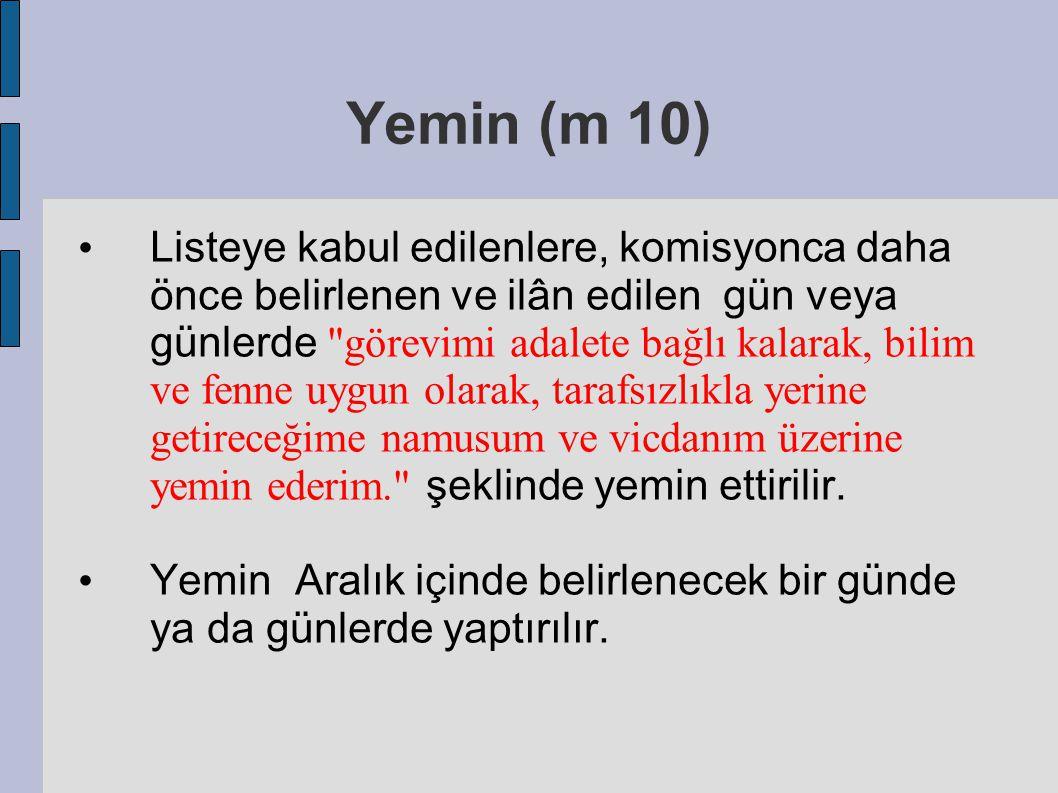 Yemin (m 10)