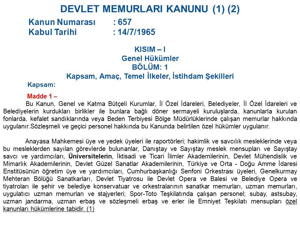 DEVLET MEMURLARI KANUNU (1) (2)