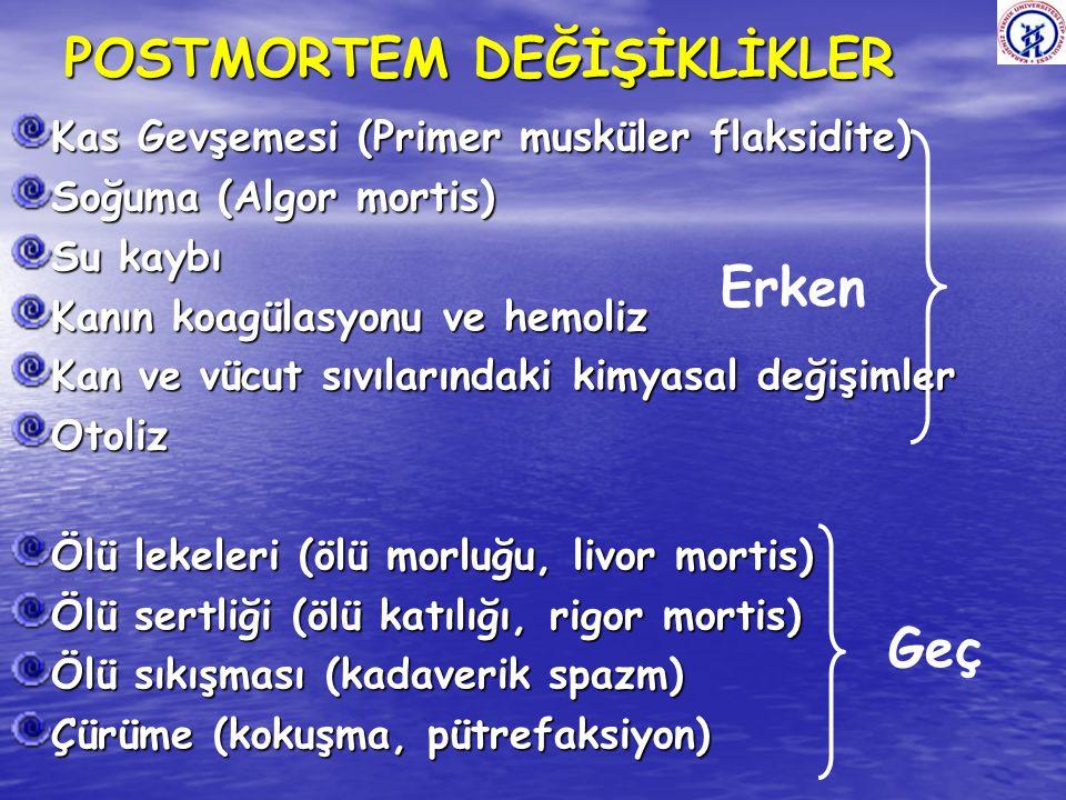 POSTMORTEM DEĞİŞİKLİKLER