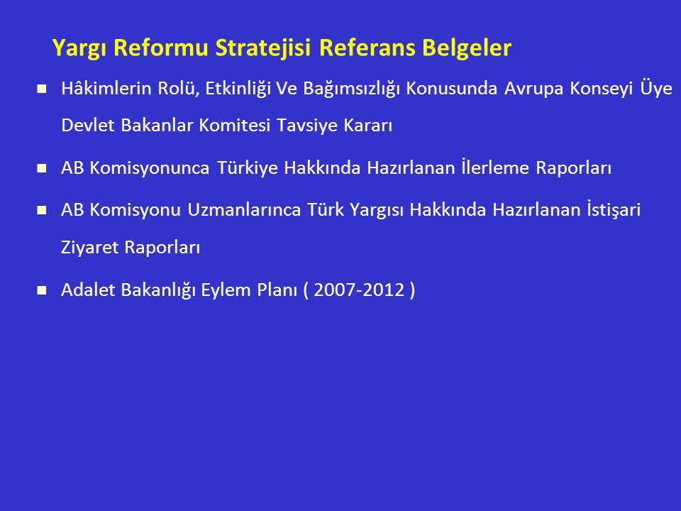Yargı Reformu Stratejisi Referans Belgeler