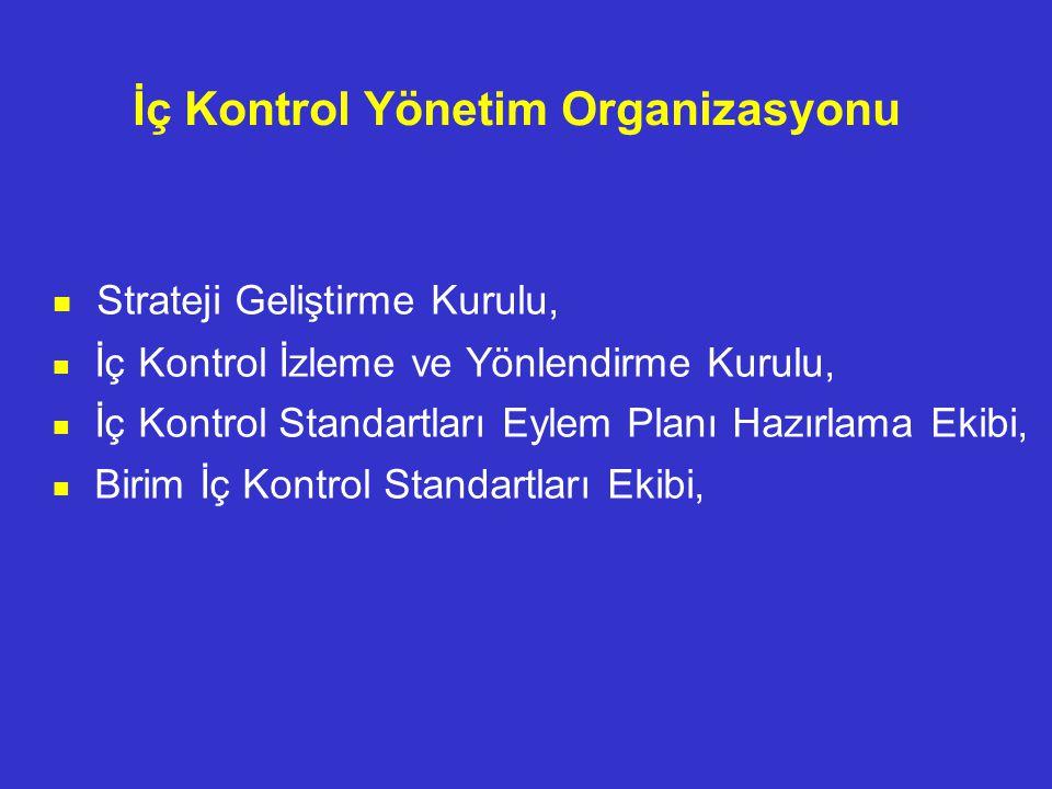 İç Kontrol Yönetim Organizasyonu