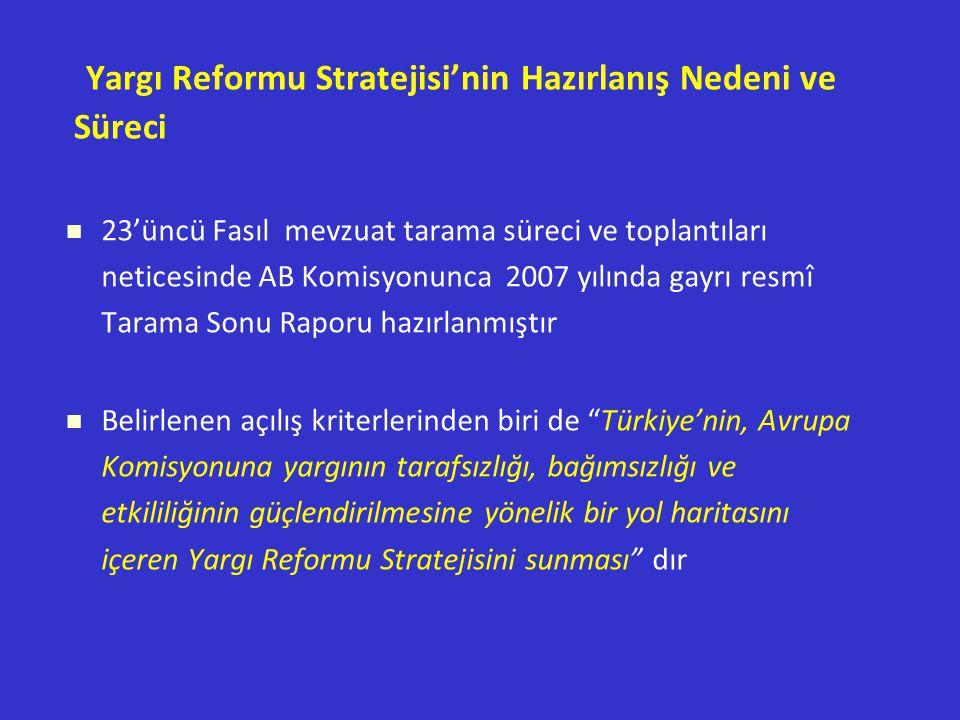 Yargı Reformu Stratejisi'nin Hazırlanış Nedeni ve Süreci