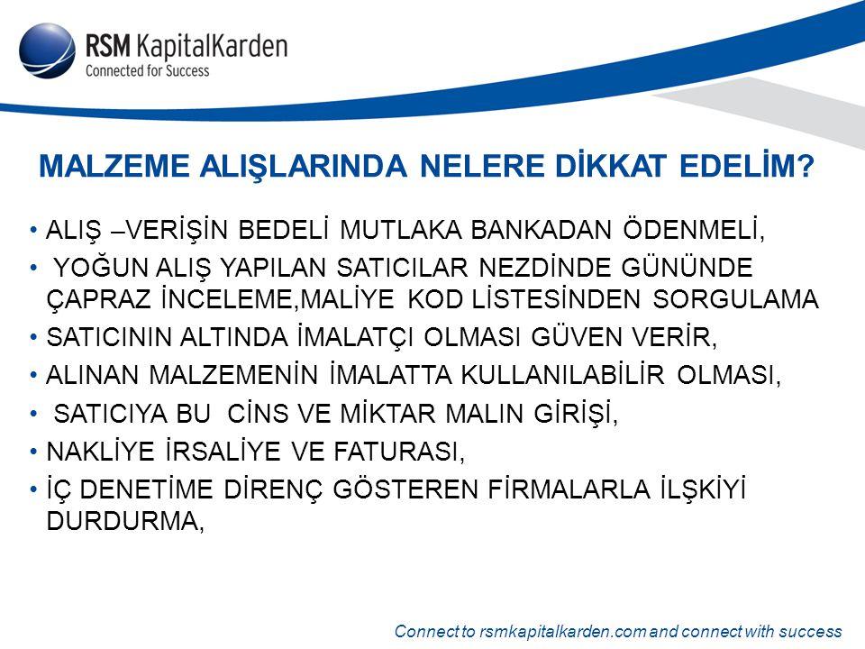 MALZEME ALIŞLARINDA NELERE DİKKAT EDELİM