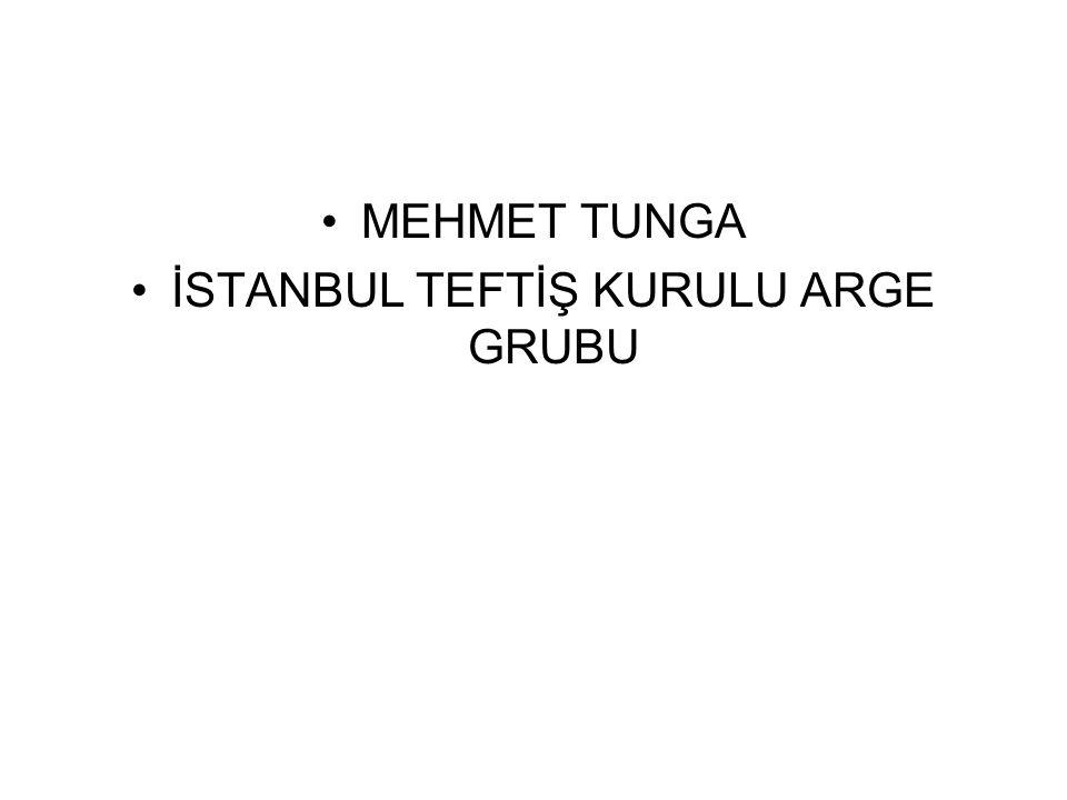 İSTANBUL TEFTİŞ KURULU ARGE GRUBU