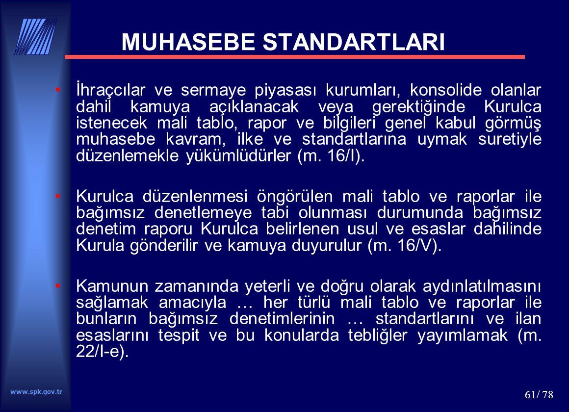 MUHASEBE STANDARTLARI