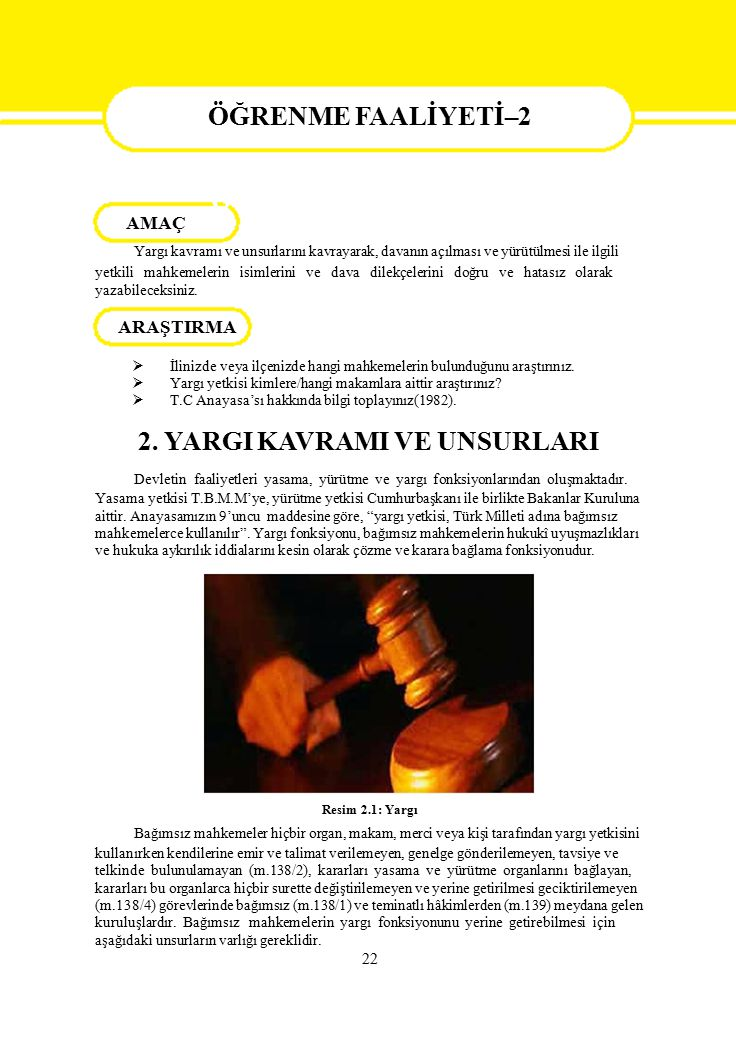 ÖĞRENME FAALİYETİ-2 AMAÇ