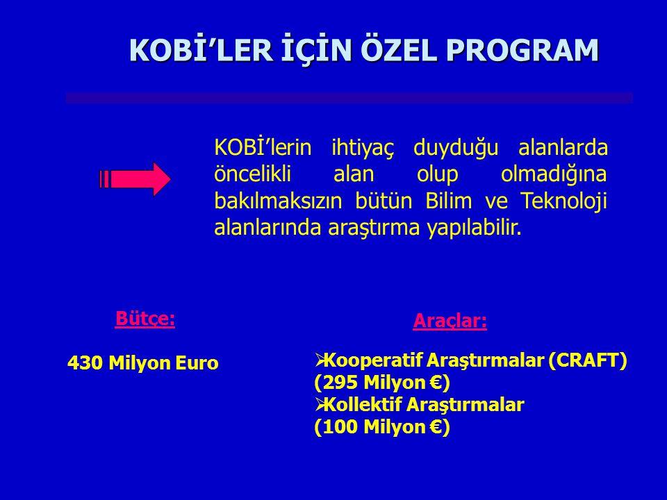 KOBİ'LER İÇİN ÖZEL PROGRAM