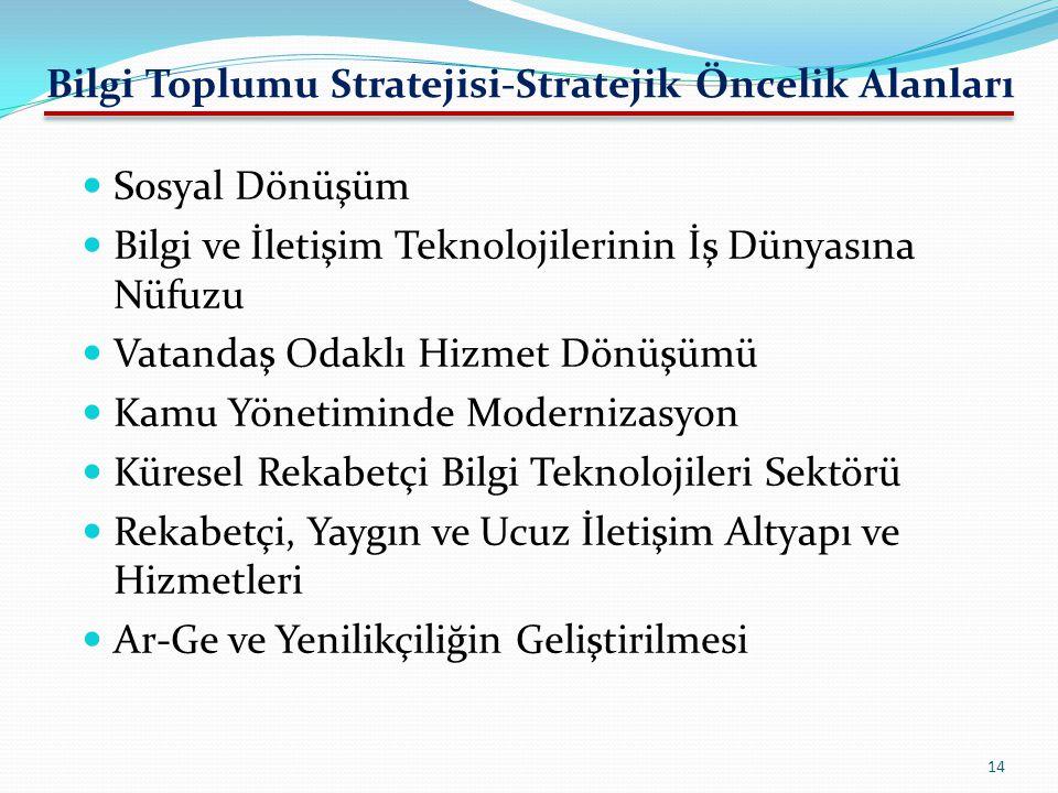 Bilgi Toplumu Stratejisi-Stratejik Öncelik Alanları