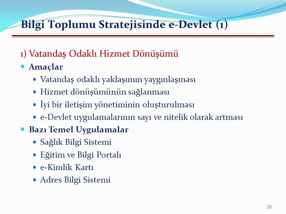 Bilgi Toplumu Stratejisinde e-Devlet (1)