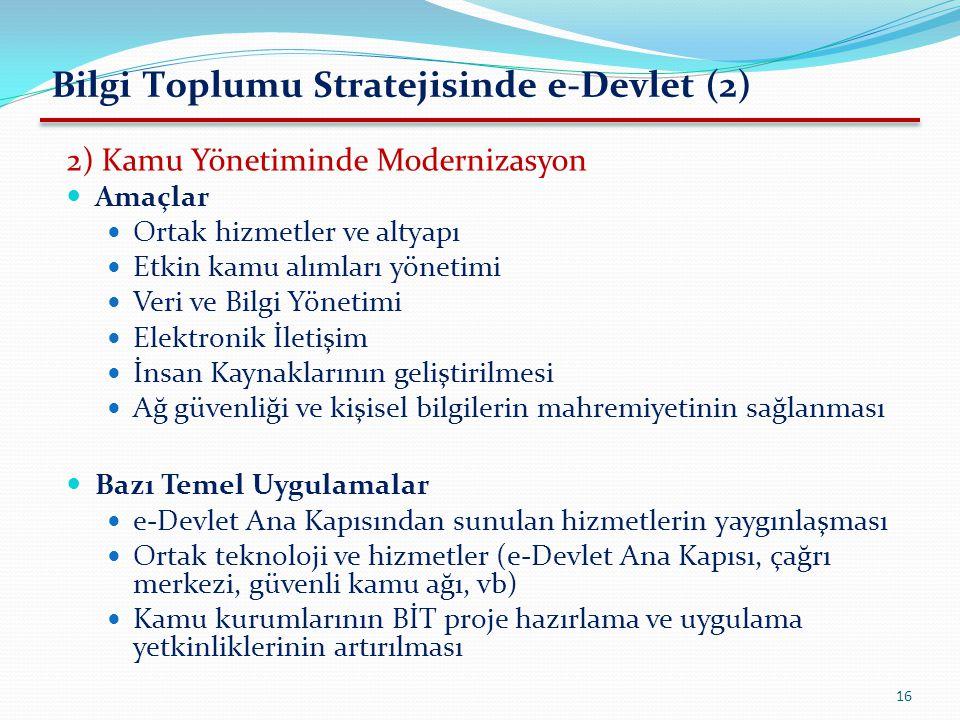 Bilgi Toplumu Stratejisinde e-Devlet (2)