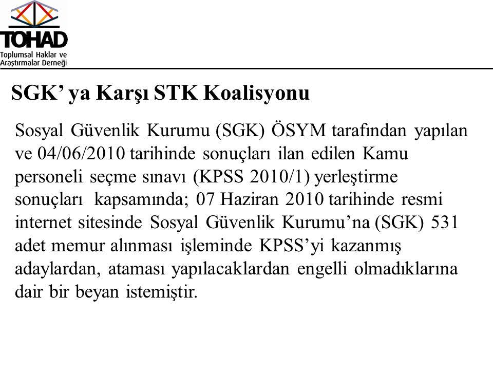 SGK' ya Karşı STK Koalisyonu