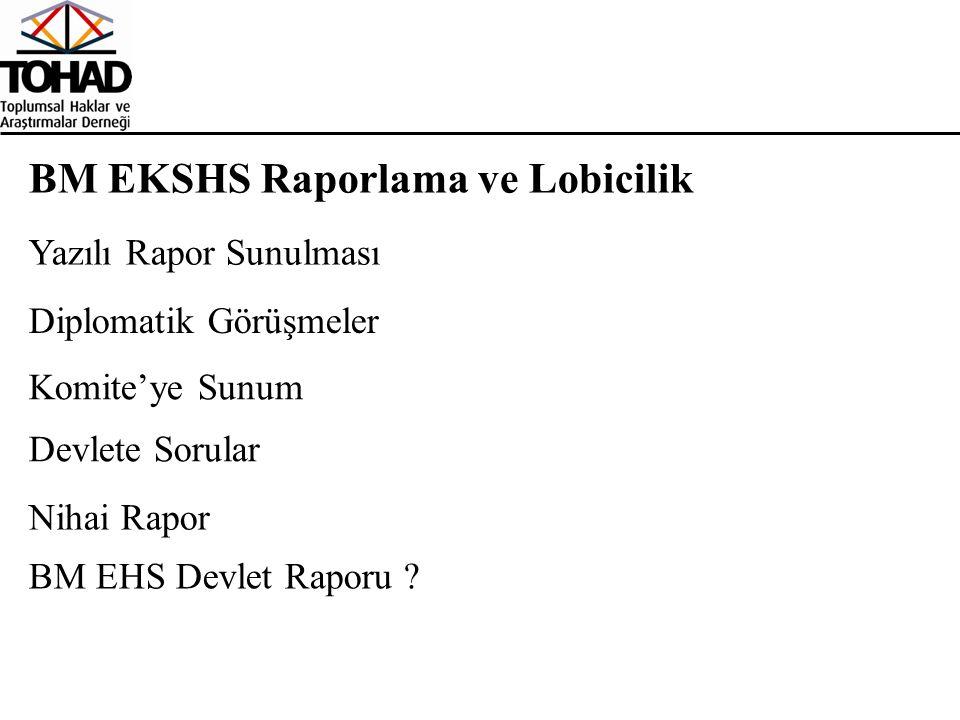 BM EKSHS Raporlama ve Lobicilik