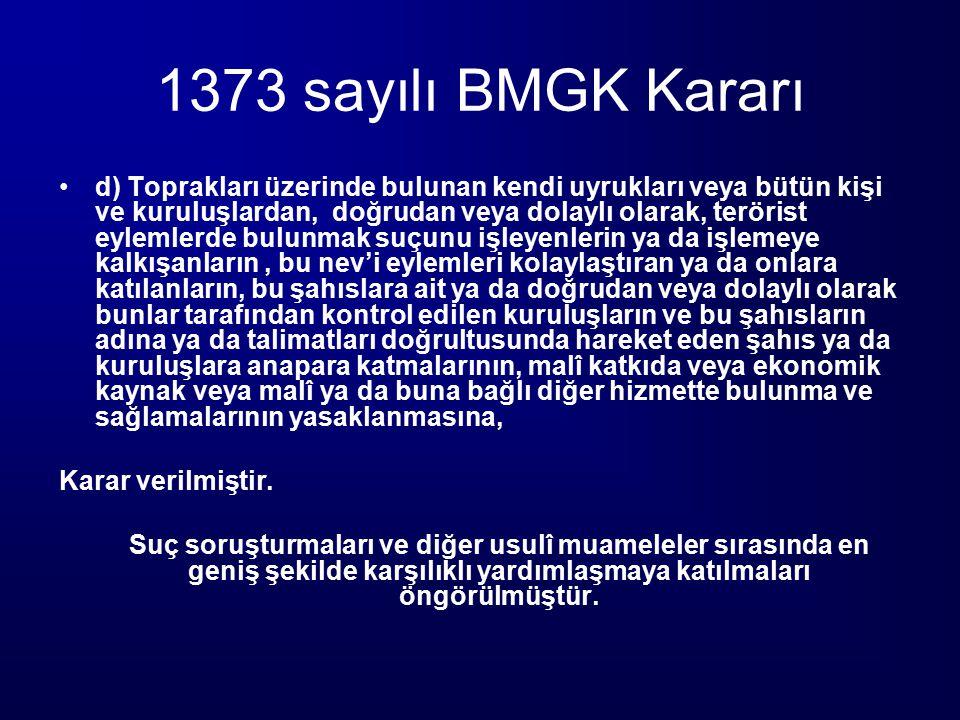 1373 sayılı BMGK Kararı