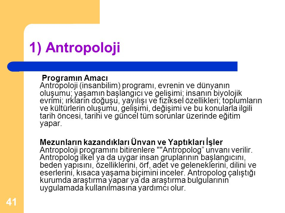 1) Antropoloji