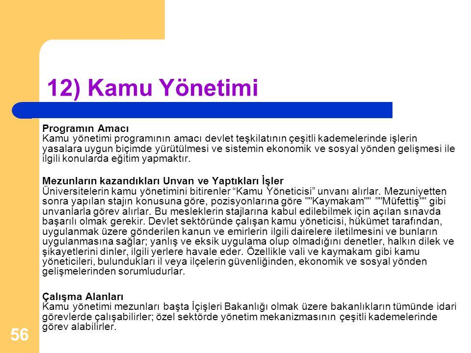 12) Kamu Yönetimi