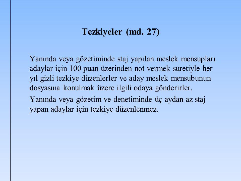 Tezkiyeler (md. 27)