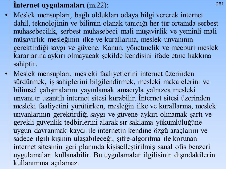 İnternet uygulamaları (m.22):