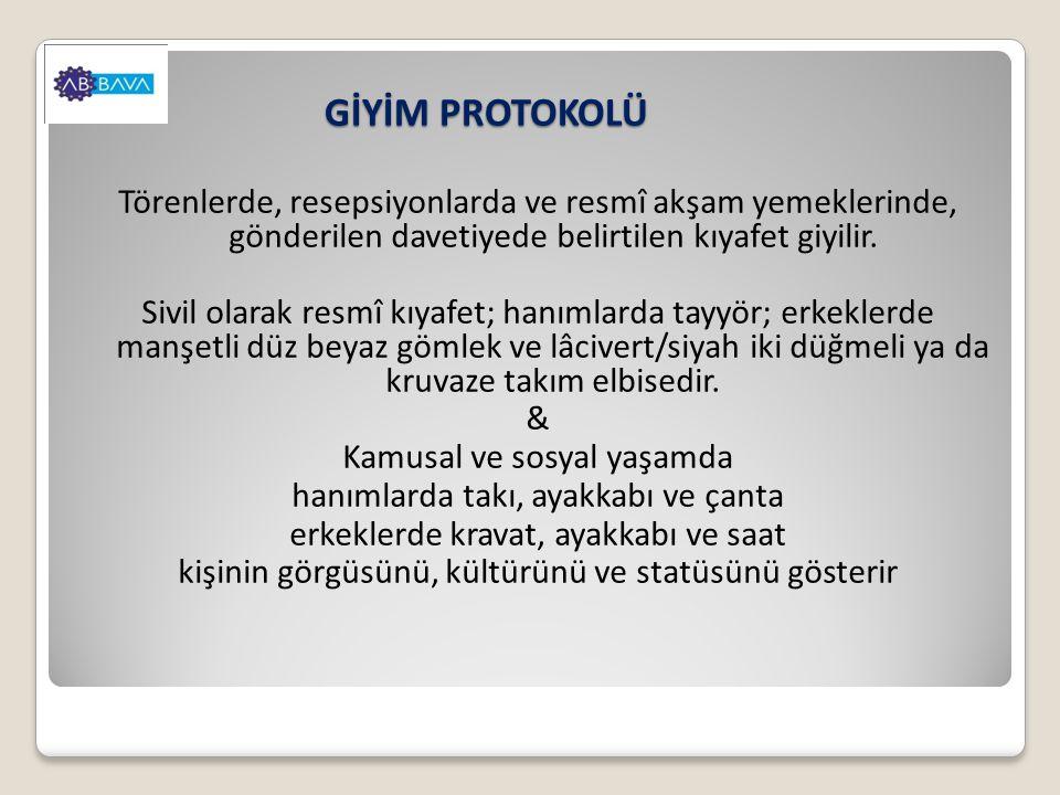 GİYİM PROTOKOLÜ