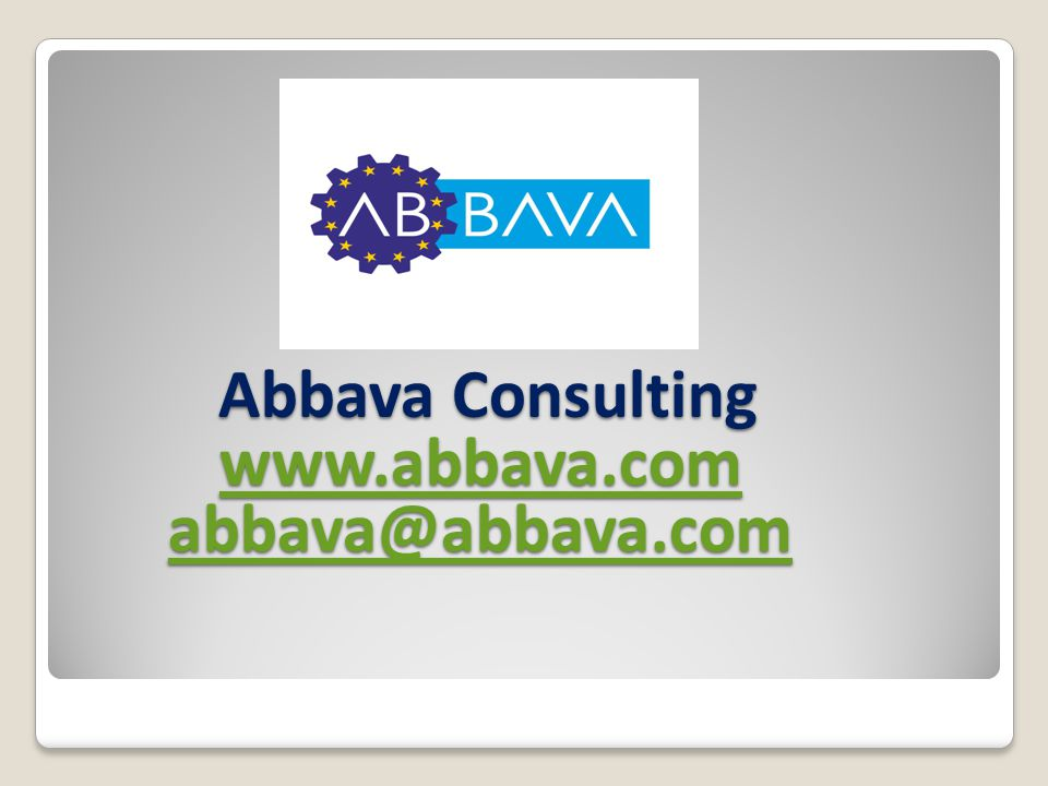 Abbava Consulting www.abbava.com abbava@abbava.com