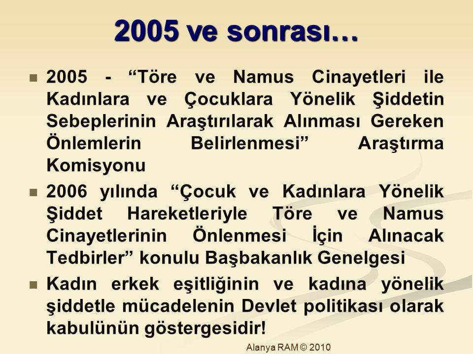 2005 ve sonrası…