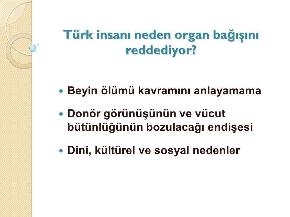 Türk insanı neden organ bağışını reddediyor