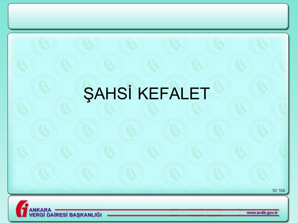 ŞAHSİ KEFALET / 104