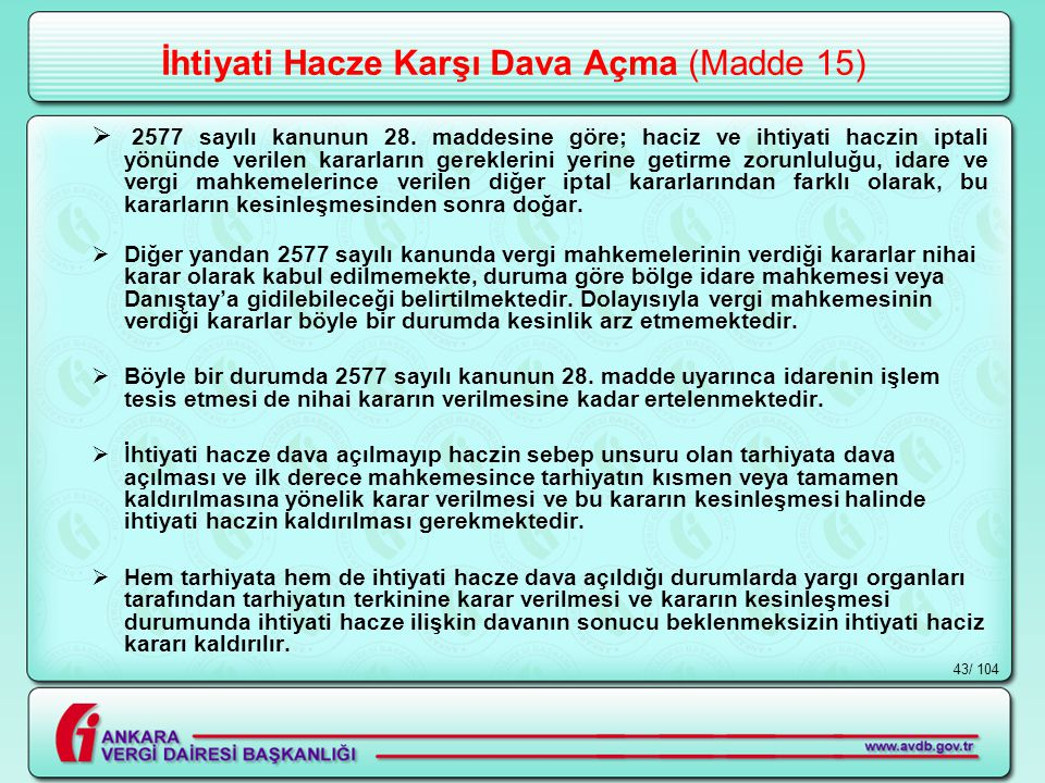 İhtiyati Hacze Karşı Dava Açma (Madde 15)