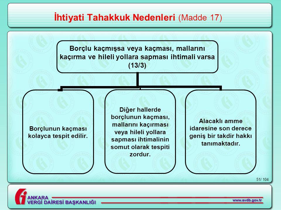 İhtiyati Tahakkuk Nedenleri (Madde 17)