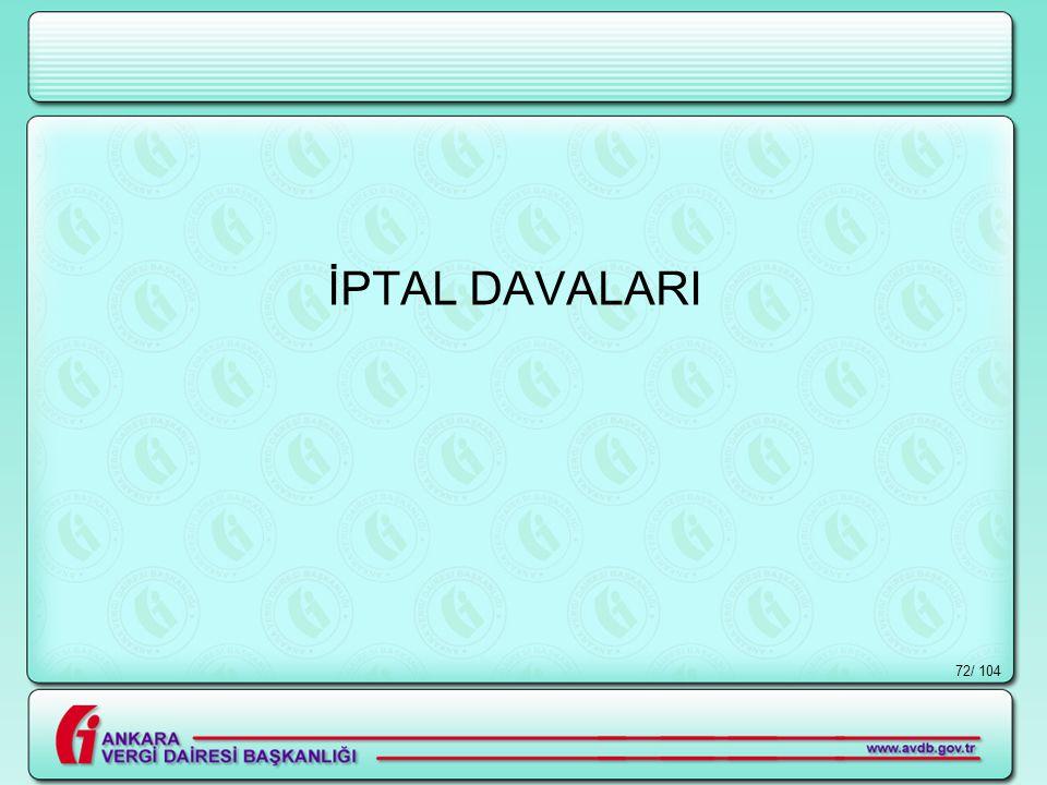 İPTAL DAVALARI / 104