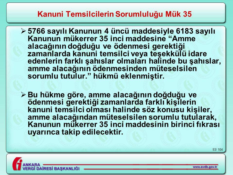 Kanuni Temsilcilerin Sorumluluğu Mük 35