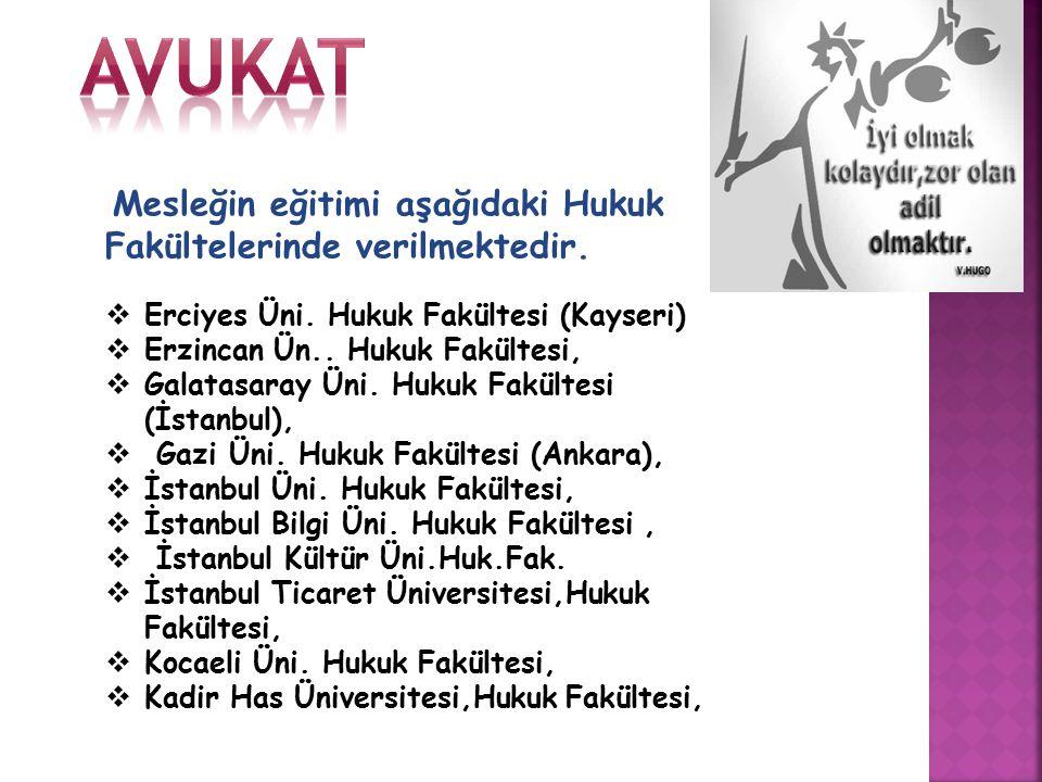 avukat Erciyes Üni. Hukuk Fakültesi (Kayseri)
