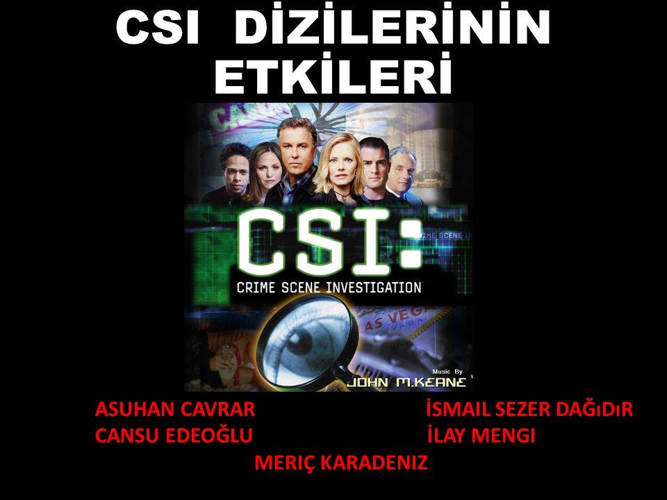 CSI DİZİLERİNİN ETKİLERİ