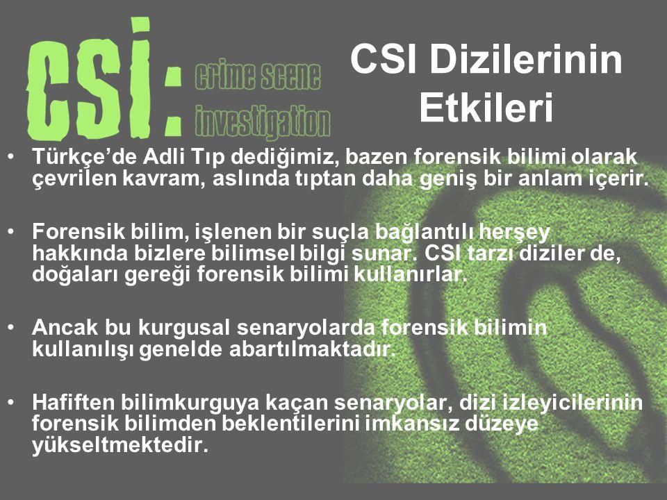CSI Dizilerinin Etkileri