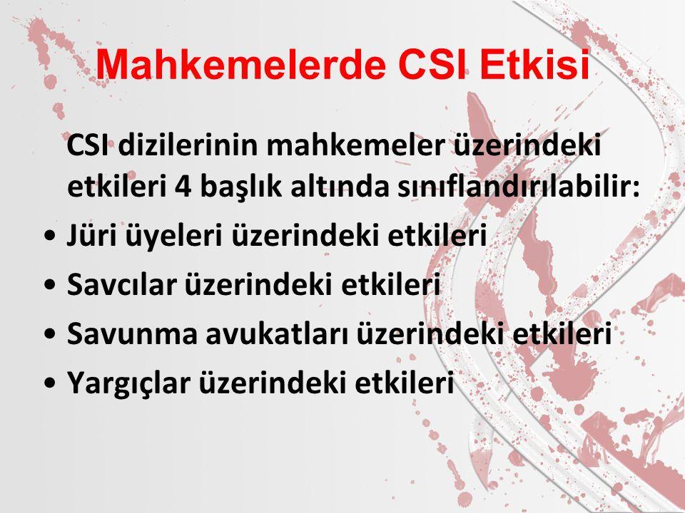 Mahkemelerde CSI Etkisi