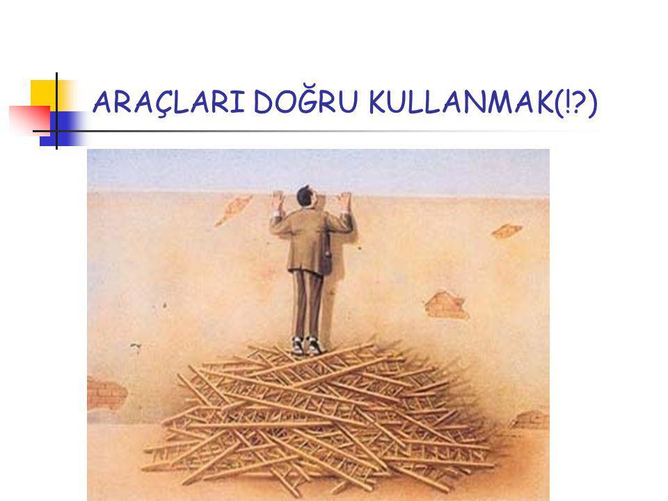 ARAÇLARI DOĞRU KULLANMAK(! )