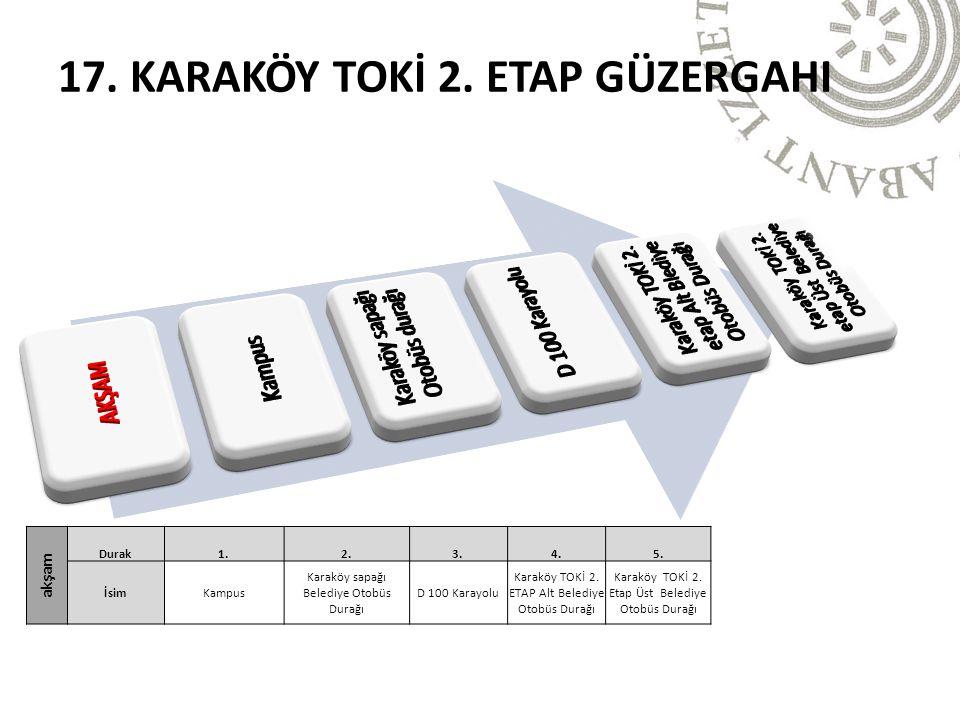 17. KARAKÖY TOKİ 2. ETAP GÜZERGAHI