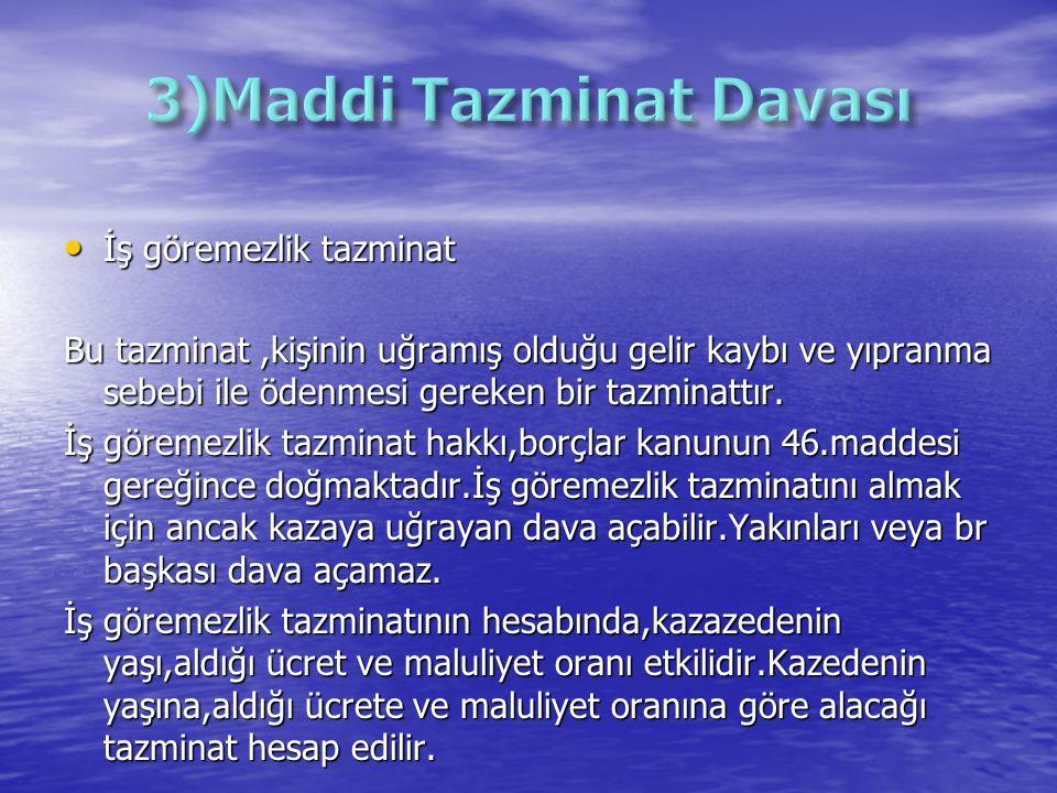 3)Maddi Tazminat Davası
