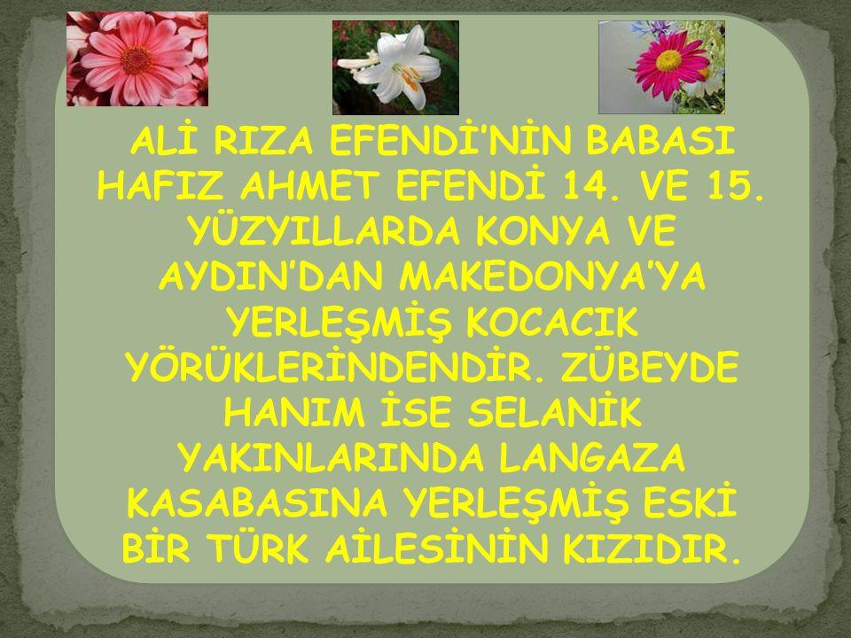 ALİ RIZA EFENDİ'NİN BABASI HAFIZ AHMET EFENDİ 14. VE 15
