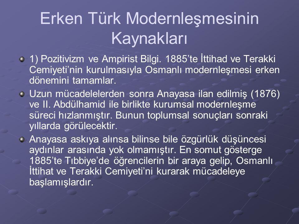 Erken Türk Modernleşmesinin Kaynakları