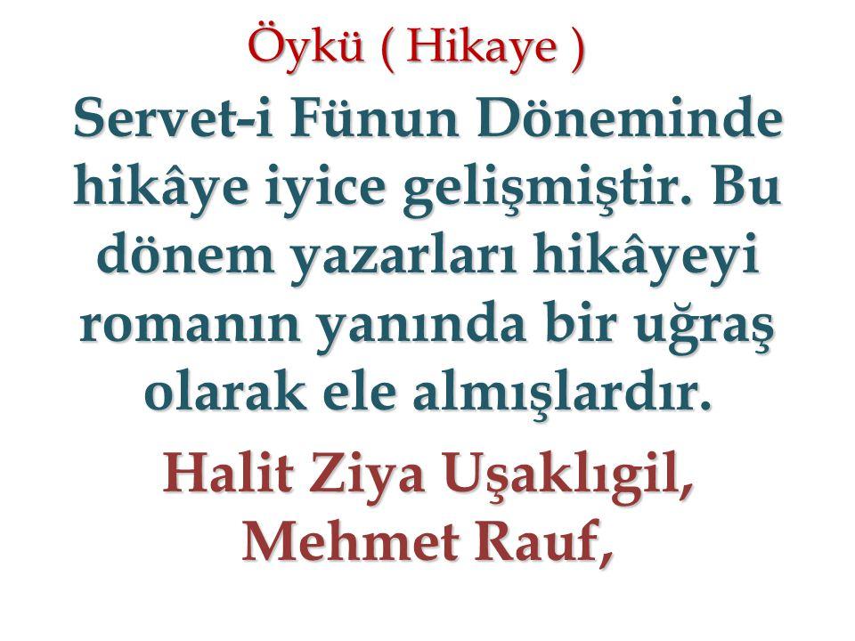 Halit Ziya Uşaklıgil, Mehmet Rauf,
