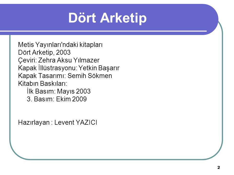 Dört Arketip Metis Yayınları ndaki kitapları Dört Arketip, 2003
