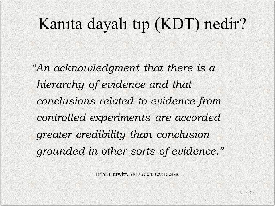 Kanıta dayalı tıp (KDT) nedir