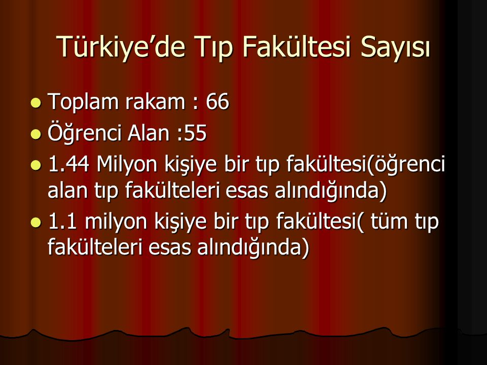 Türkiye'de Tıp Fakültesi Sayısı