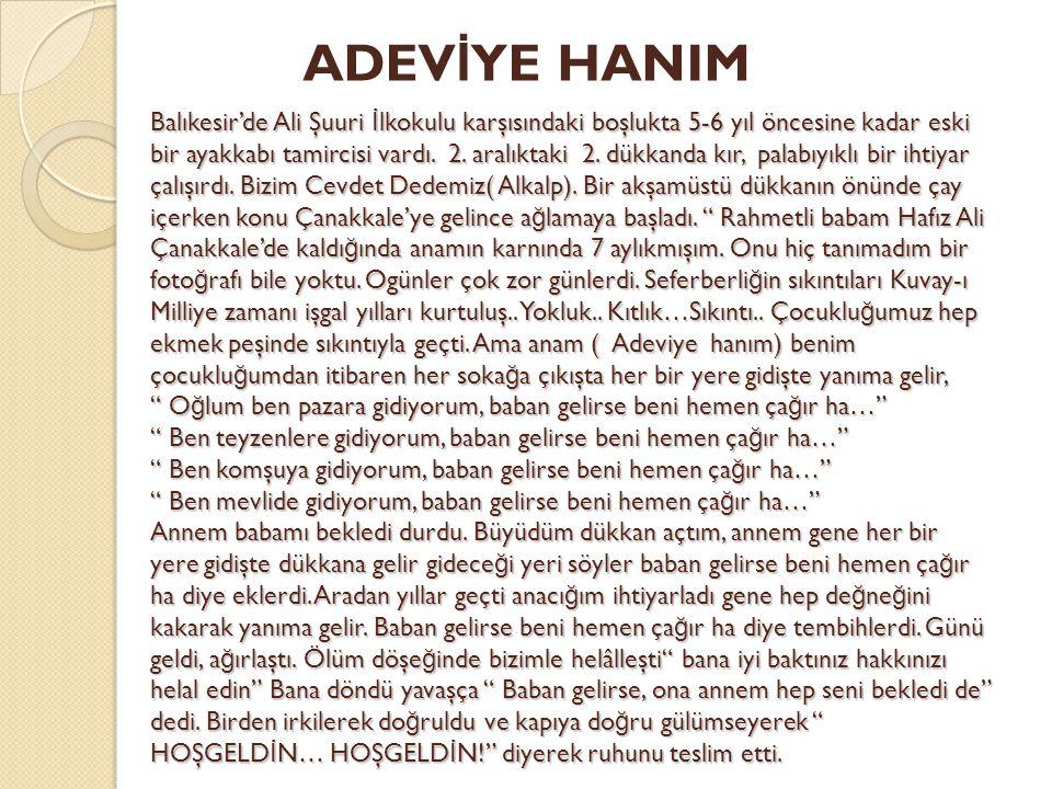 ADEVİYE HANIM