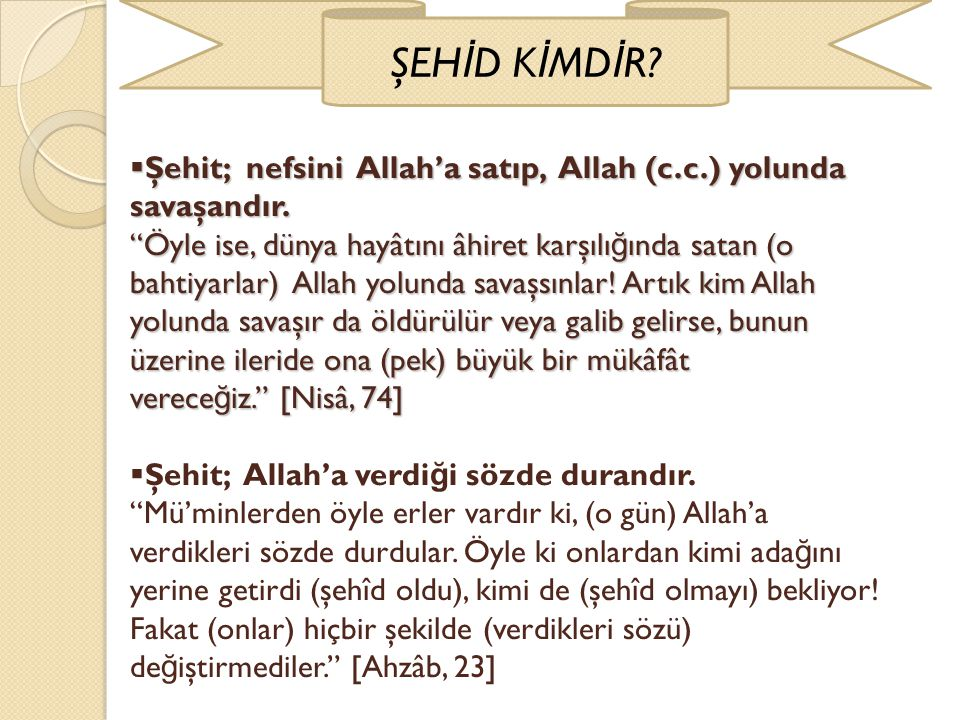 ŞEHİD KİMDİR