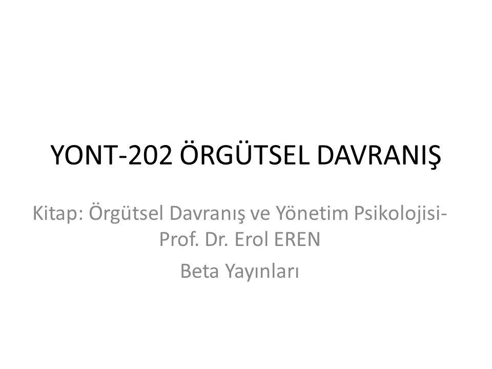 YONT-202 ÖRGÜTSEL DAVRANIŞ