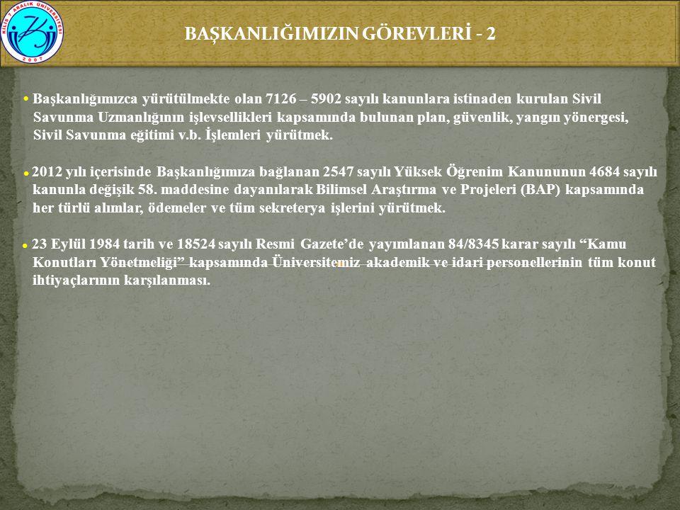 BAŞKANLIĞIMIZIN GÖREVLERİ - 2