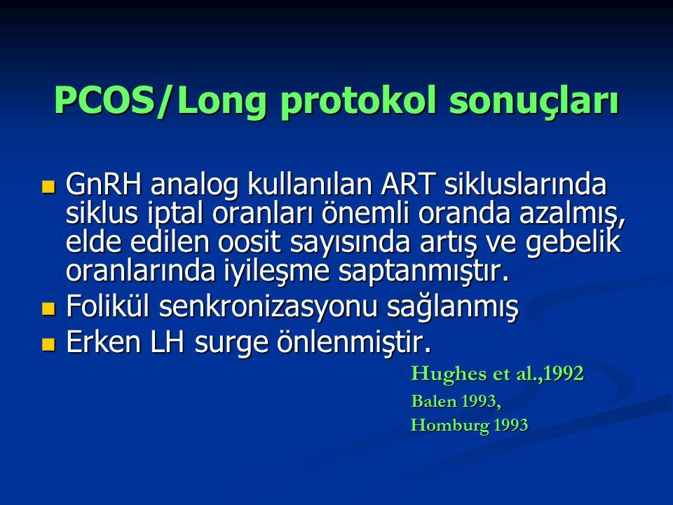 PCOS/Long protokol sonuçları