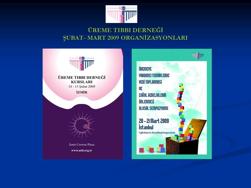ÜREME TIBBI DERNEĞİ ŞUBAT- MART 2009 ORGANİZASYONLARI